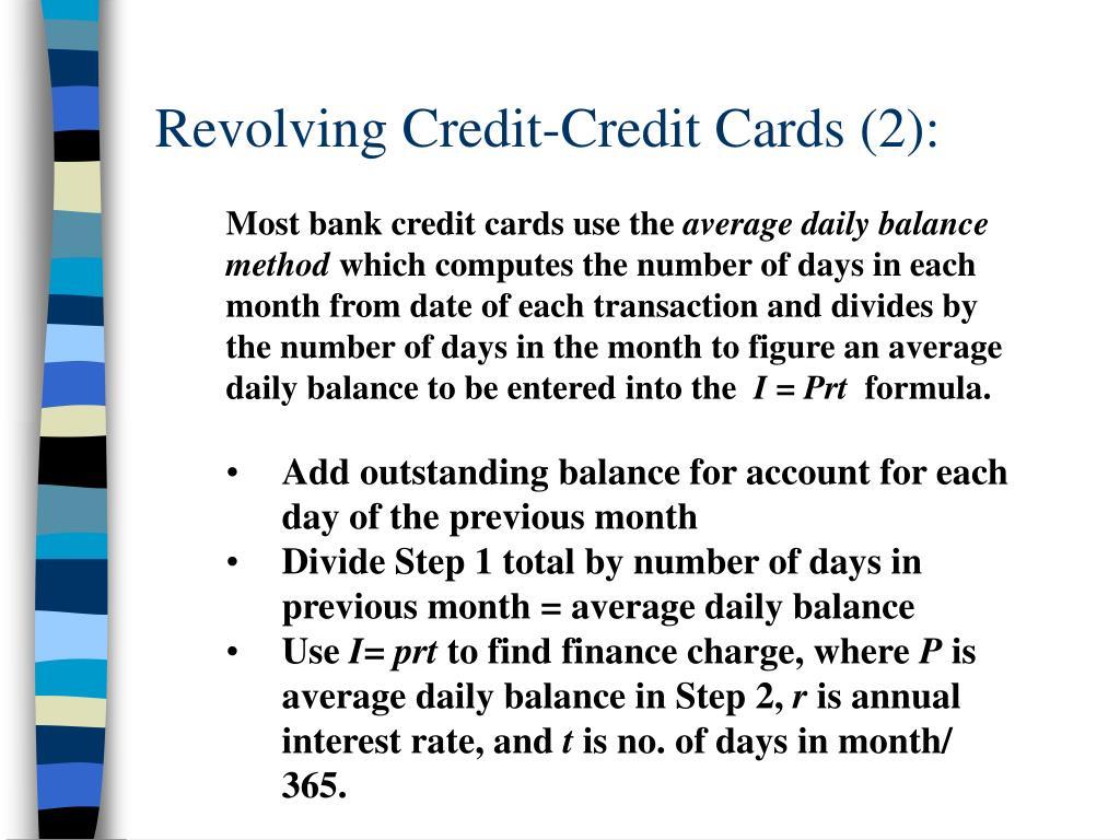 Revolving Credit-Credit Cards (2):