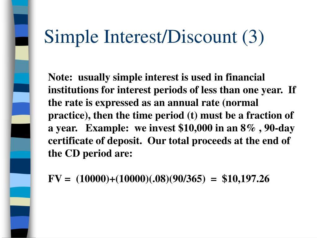 Simple Interest/Discount (3)
