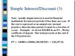 simple interest discount 3