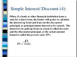 simple interest discount 4