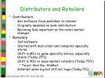 distributors and retailers