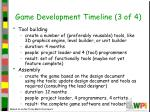 game development timeline 3 of 4