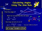 calculating angles using the sine rule
