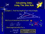 calculating sides using the sine rule