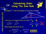 calculating sides using the sine rule7