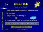 cosine rule21