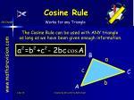 cosine rule28