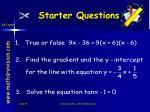 starter questions10