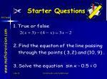starter questions34