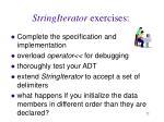 stringiterator exercises
