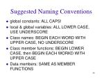 suggested naming conventions