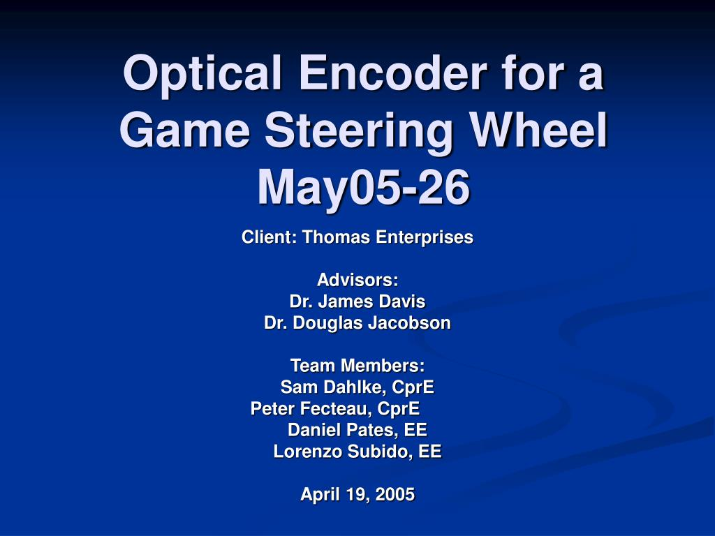 optical encoder for a game steering wheel may05 26 l.