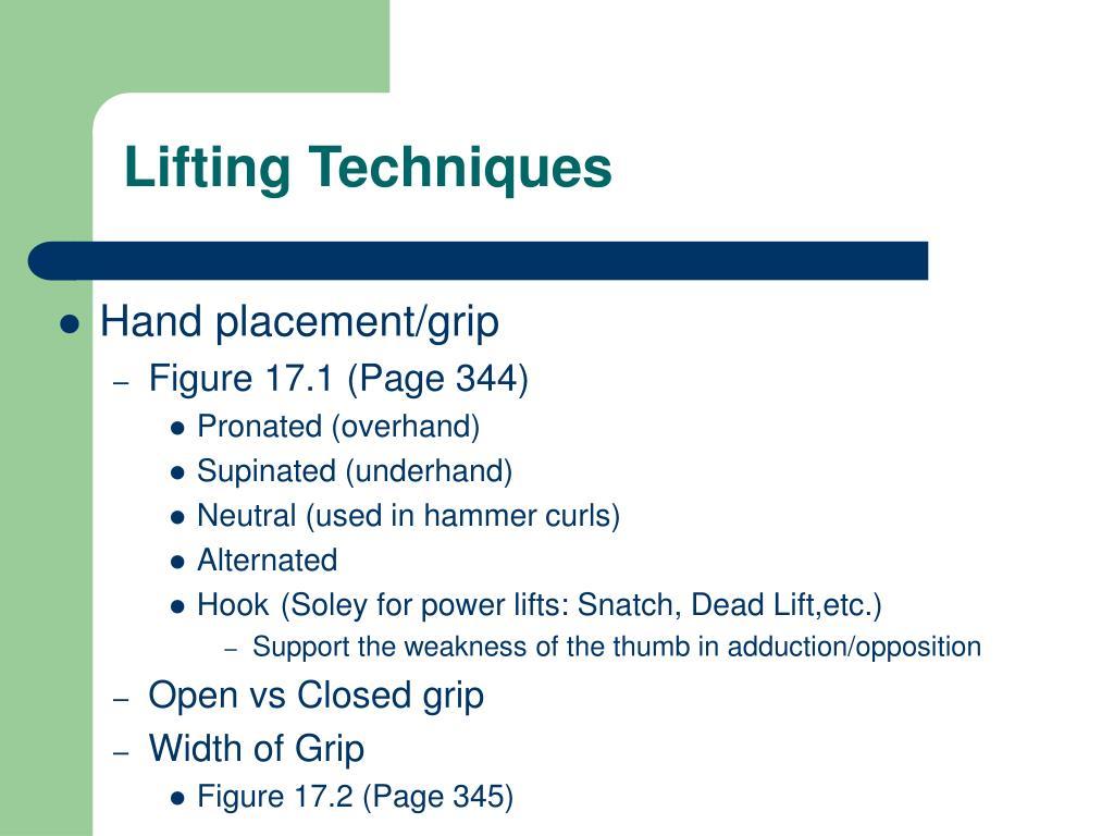 lifting techniques l.