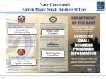 navy commands eleven major small business offices