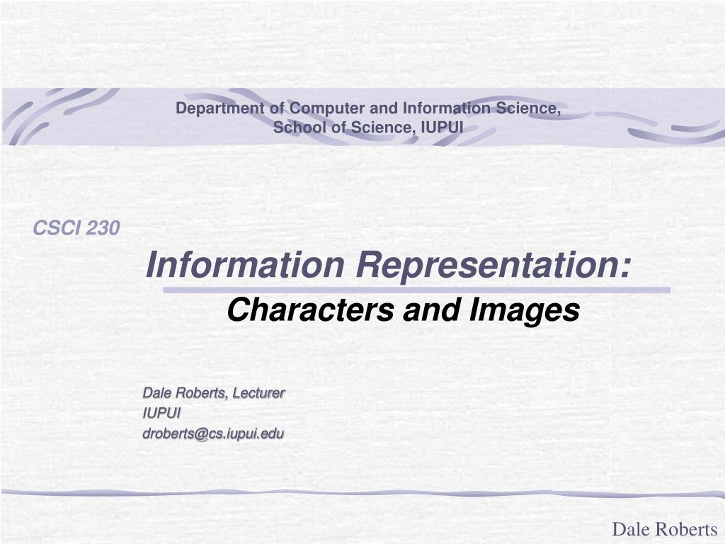 information representation characters and images l.