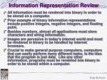 information representation review