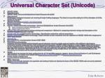 universal character set unicode