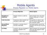 mobile agents process migration v s mobile agents