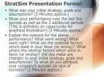 stratsim presentation format