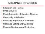 assurance strategies