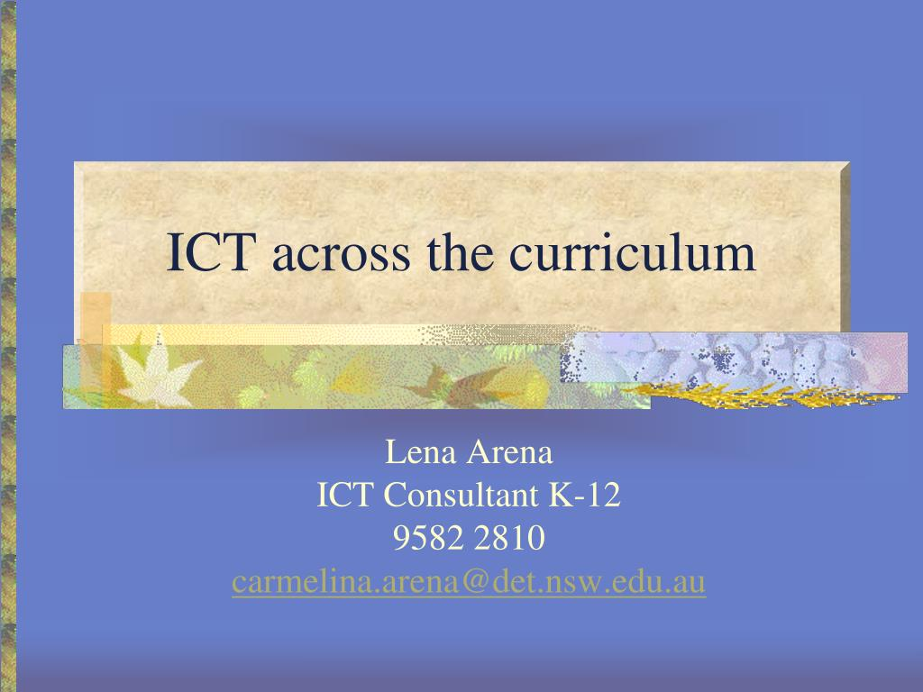 ict across the curriculum l.