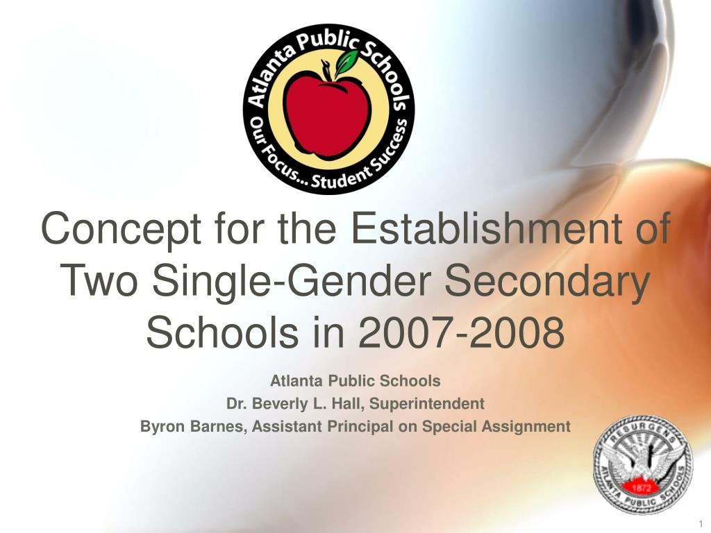 concept for the establishment of two single gender secondary schools in 2007 2008 l.