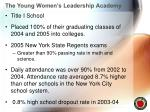 the young women s leadership academy