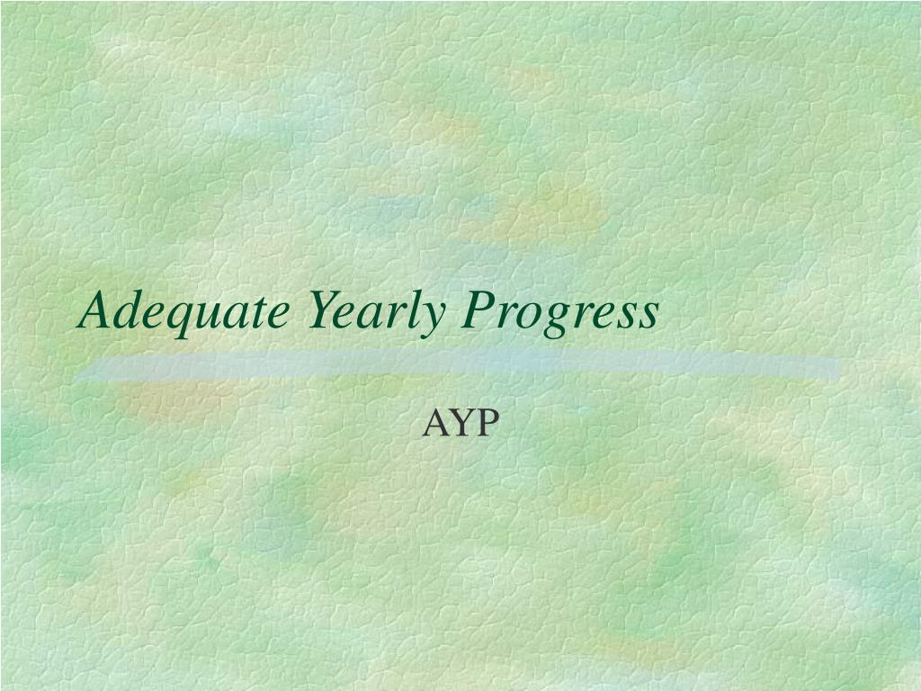 adequate yearly progress l.