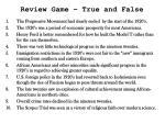 review game true and false