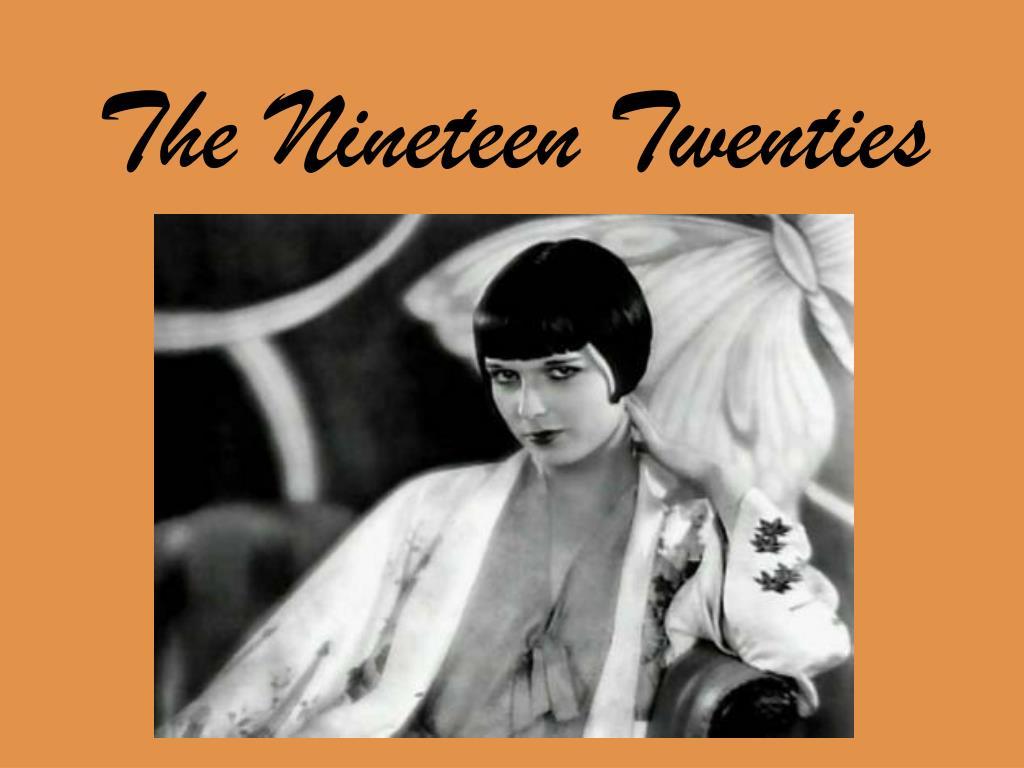 the nineteen twenties l.