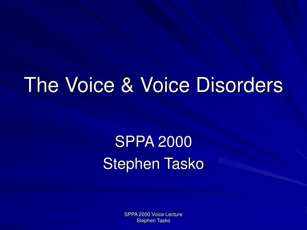 the voice voice disorders l.