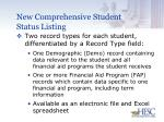 new comprehensive student status listing28