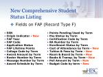new comprehensive student status listing30