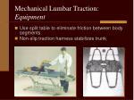 mechanical lumbar traction equipment