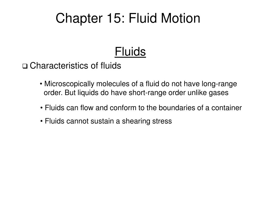 chapter 15 fluid motion l.