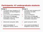 participants 47 undergraduate students