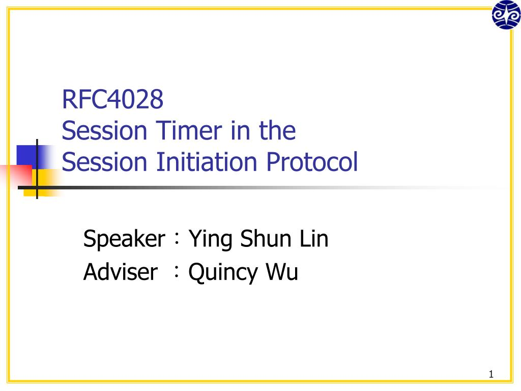 rfc4028 session timer in the session initiation protocol l.