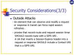 security considerations 3 3