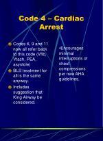 code 4 cardiac arrest