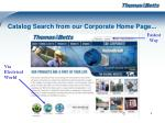 catalog search from our corporate home page