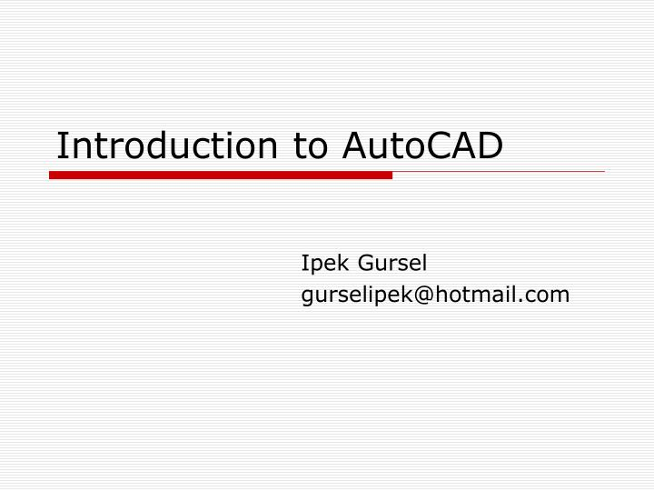 introduction to autocad n.