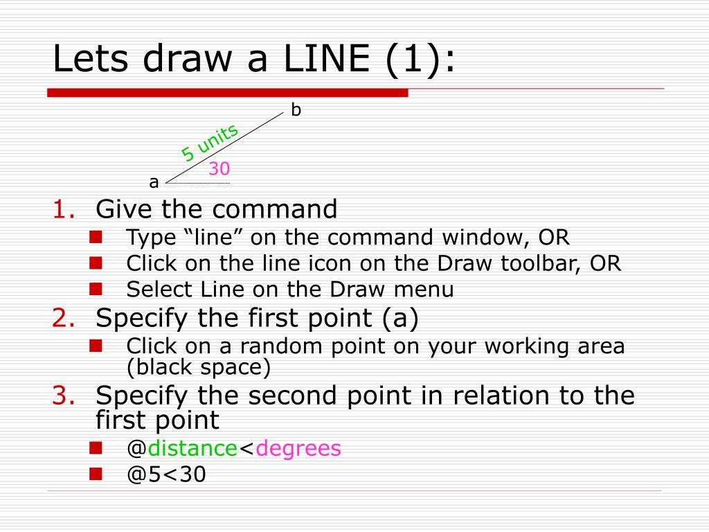 Lets draw a LINE (1):