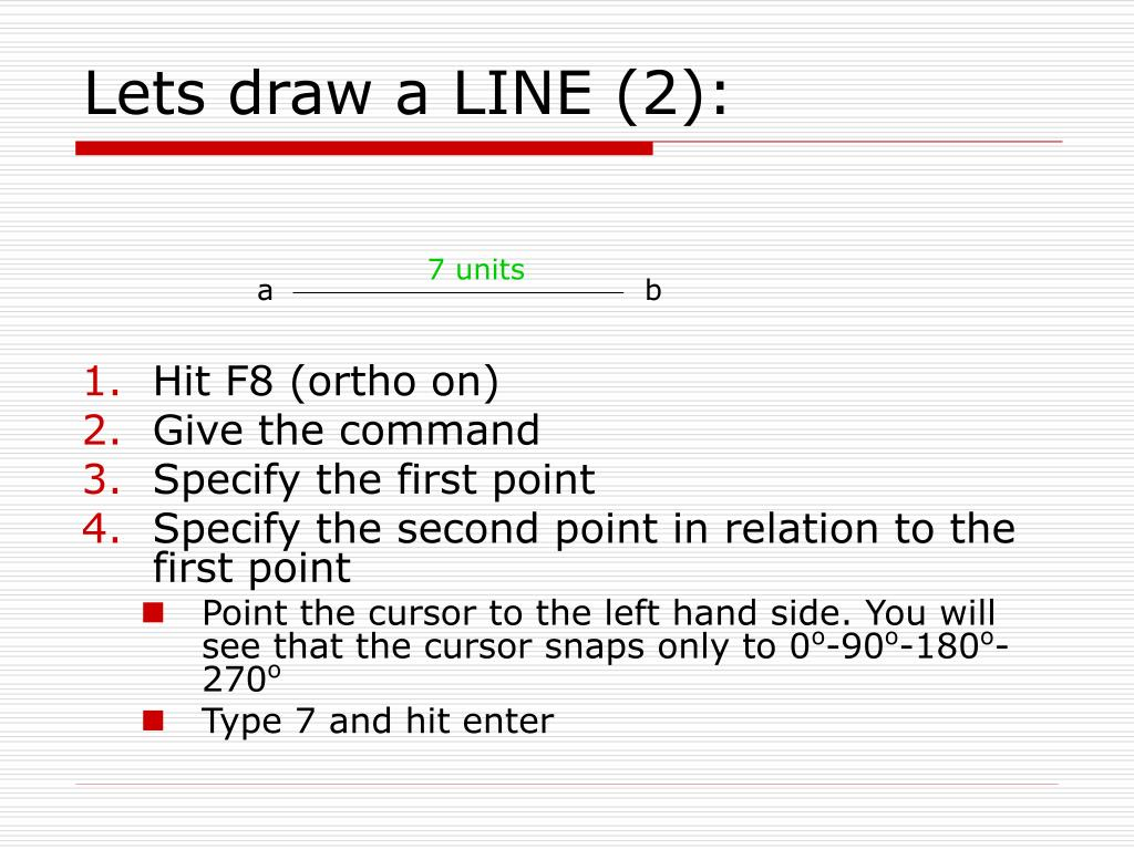Lets draw a LINE (2):
