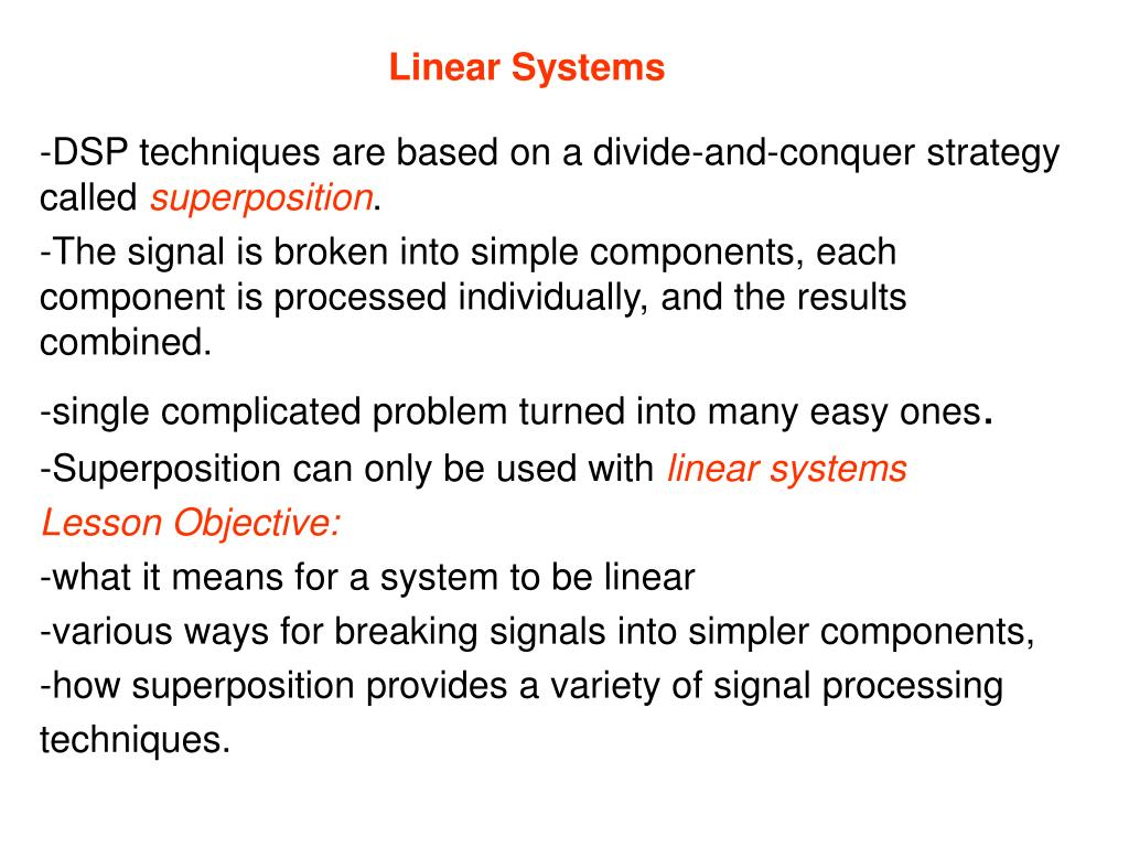 linear systems l.