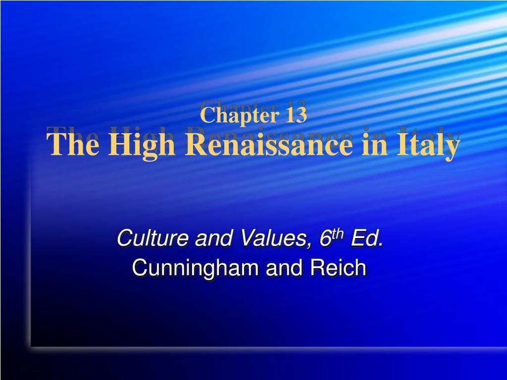 chapter 13 the high renaissance in italy l.