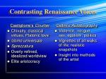 contrasting renaissance voices