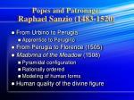 popes and patronage raphael sanzio 1483 1520