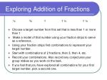 exploring addition of fractions
