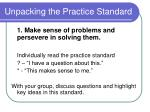 unpacking the practice standard