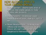 how alcohol affects your driving skills